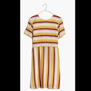 Madewell stripe scoopback dress